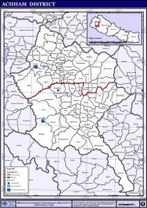 NepalAchhamDistrictmap