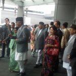 देउवाको स्वागतमा भारतीय विदेशमन्त्री सुष्मा स्वराज