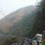 शनिबारदेखि नारायणगढ–मुग्लिन सडकखण्डमा सवारी साधन दिउँसो पनि बन्द गरीने