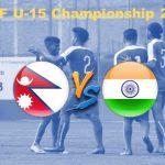 यु १५ साफ च्याम्पीयन्सीपमा भारतद्वारा नेपाल २-१ ले पराजित