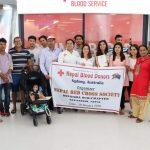 नेपाल रेड्क्रस सोसाइटी देवदह उपशाखा रुपन्देहीको आयोजनामा सिड्नीमा रक्तदान कार्यक्रम सम्पन्न :