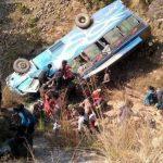 सल्यानमा बस दुर्घटना ४ को मृत्यु, २६ जना घाइते