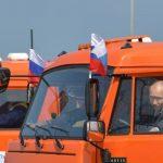 आफैँले ट्रक हाँकेर पुटिनले गरे क्रिमिया पुलको उद्घाटन