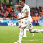 इजिप्टविरुद्ध नाटकीय गोल गर्दै उरुग्वेको विजयी सुरुवात