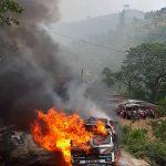 जुगेखोलामा बुलेराे र ट्रक ठोक्किदा अागलागी