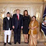 अमेरिकी राष्ट्रपति ट्रम्प र प्रधानमन्त्री ओलीबीच भेटवार्ता