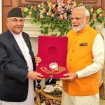 प्रधानमन्त्री ओली र मोदीबीच भेटवार्ता, नेपाल भ्रमणको निम्तो