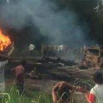 पेट्रोल बोकेको गाडी विस्फोट, ५o को मृत्यु, १ सय जना घाइते