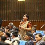 पुष्पा भुसालको प्रश्न- सरकारी जग्गामा पार्टी कार्यालय राखेर नेकपाले कानून मिच्न मिल्छ?