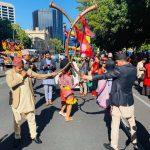 अस्ट्रेलिया डे को र्यालीमा नेपाली समाजको तर्फबाट पञ्चेबाजा सहितको झाँकी