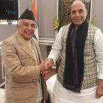 विरामी बनेर दिल्ली पुगेका कांग्रेस बरिष्ठ नेता पौडेल भारतीय नेतासँग राजनीतिक भेटघाटमा