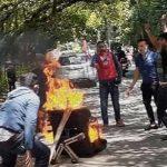 त्रिवि नियुक्त्तिको विरोध गर्दै नेविसंघले गर्यो आगजनि र तालाबन्दी