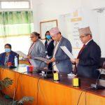 राष्ट्रिय सभा मातहतका चार समितिका सभापतिद्वारा शपथ ग्रहण